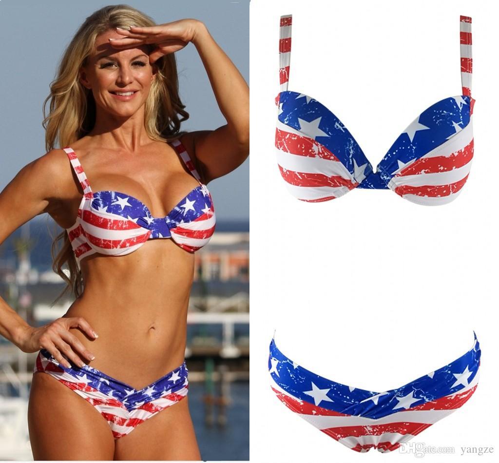 Купальник Американский Флаг Купить