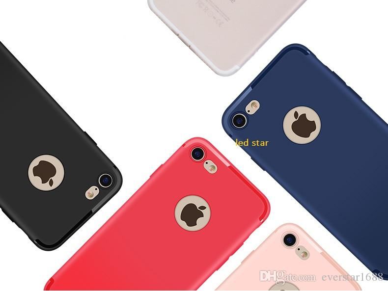 Slim Silicone Case pour iphone 7 6 6s 5 5s Cover Candy Colors Soft 065mm TPU Mat