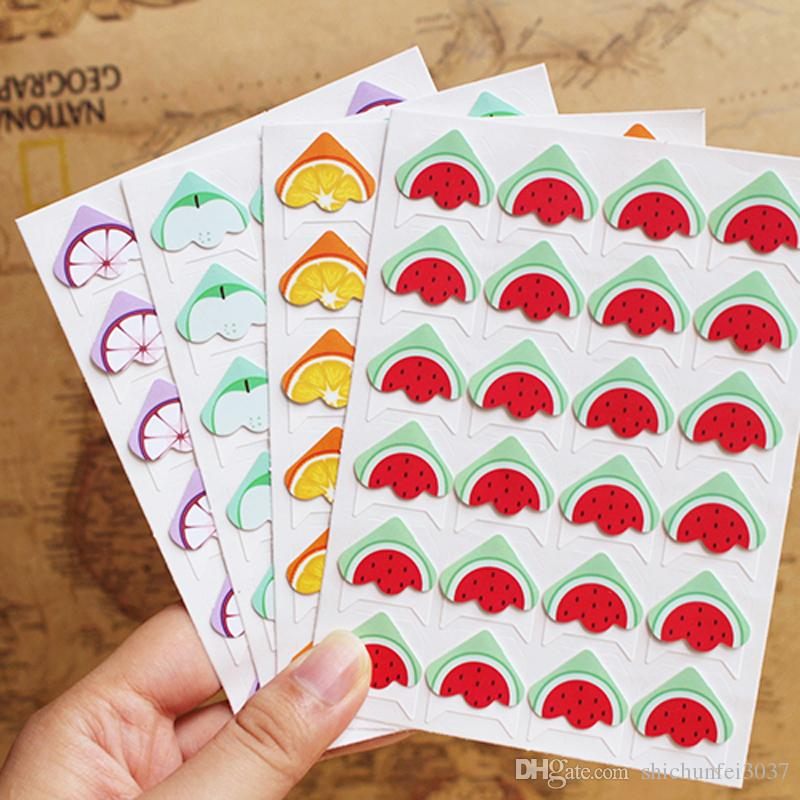 Diy fruit cartoon corner cute paper stickers for photo for Hand work decoration
