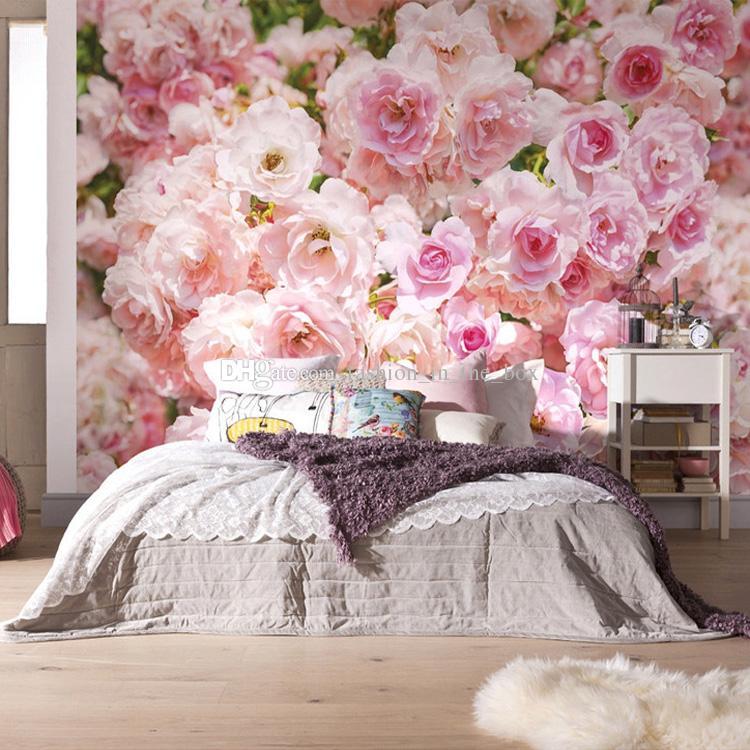 bouquets of roses wallpaper modern art wall mural custom 3d wallpaper girls bedroom living room hallway beauty salon hotel art room decor flowers wallpaper - Flower Wallpaper For Walls