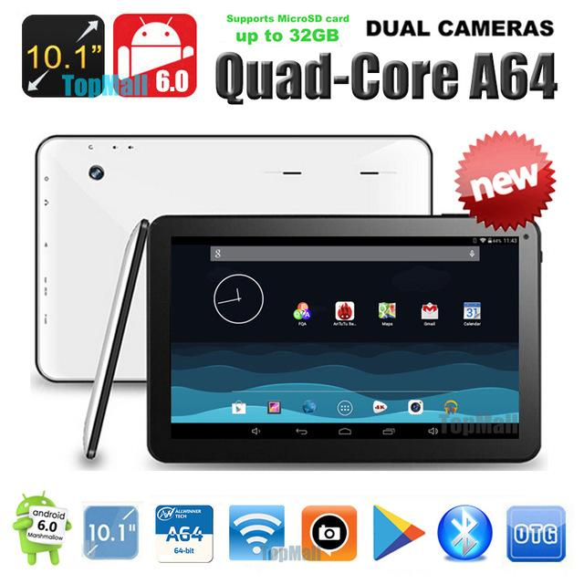 Wholesale- Hot New Android 6.0 OS 10 pouces AllWinner A64 Quad Core Tablette PC