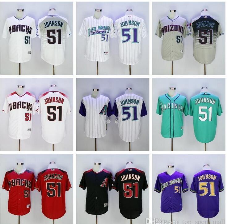 cool base mlb jersey arizona diamondbacks 51 randy johnson jersey cooperstown randy johnson baseball jerseys 44 paul goldschmidt vintage red