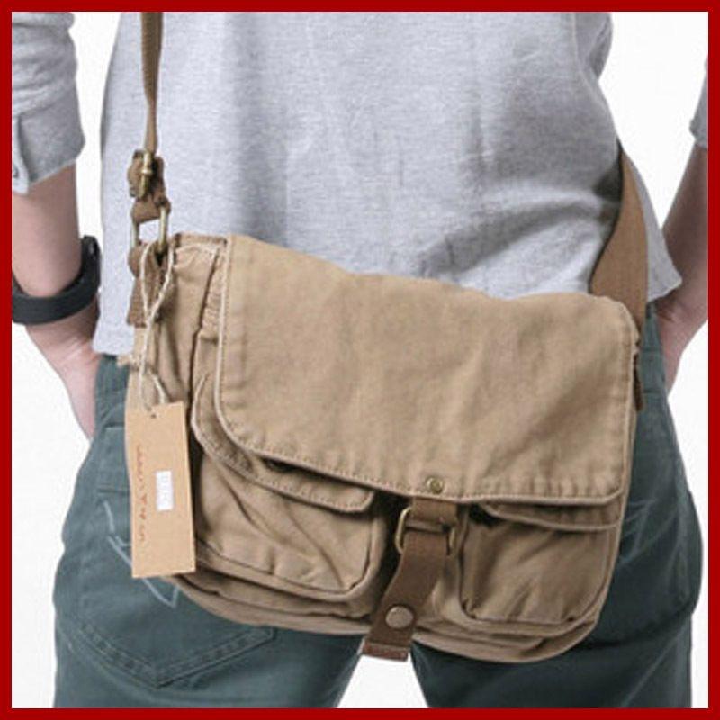 Wholesale ! New Arrival Fashion Men Canvas Bags Casual Messenger ...