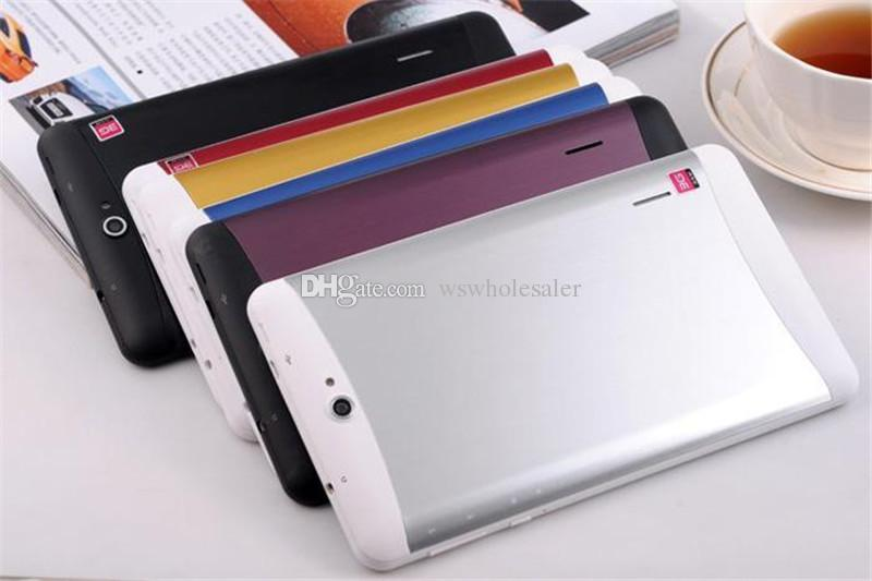 7 pouces Tablet PC 3G Phablet Android 4.4 MTK6572 Dual Core 1.5GHz 1 Go + 8 Go 3