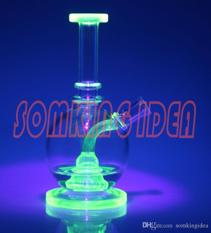 Smoking Water Pipe Oil Rigs Glass Bonfs Shower Pipe UV Green For ...