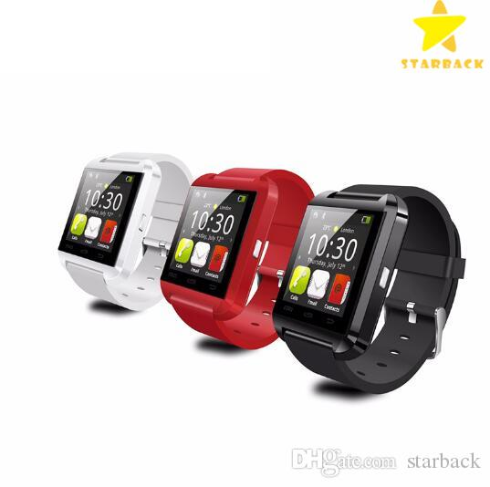 U8 Bluetooth Smart Watch Touch Screen Watch pour Android et iPhone 7 iOS avec bo