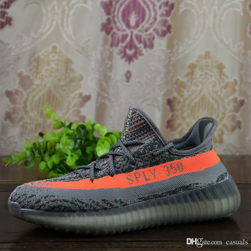2017 Boost 350 Boost V2 Beluga Sply 350 Discount Vente en gros Black White Men Women Chaussures de course Kanye West Boost 350 Discount Vente en ligne