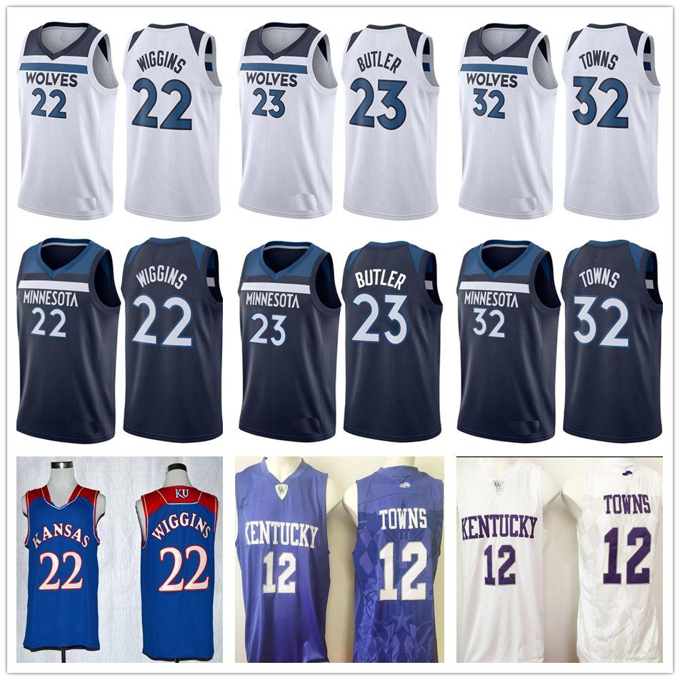 ... Black Short-Sleeved 2017 2018 New Brand Minnesota 23 Jimmy Butler Jersey  Home Road Mens 22 Andrew Wiggins 32 Karl-Anthony Towns ... 54257161e