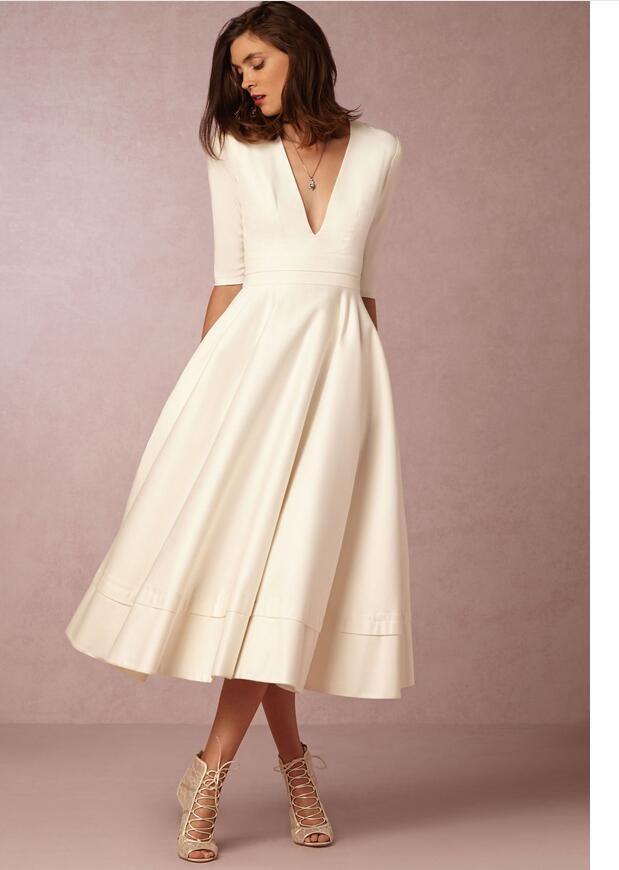 Women Fashion Long Dresses 2017 Autumn Winter Shortsleeve ...