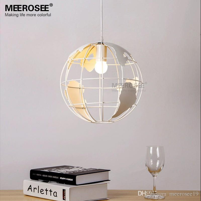 Modern Globles Ball Pendant Light Fixture Small Black Or