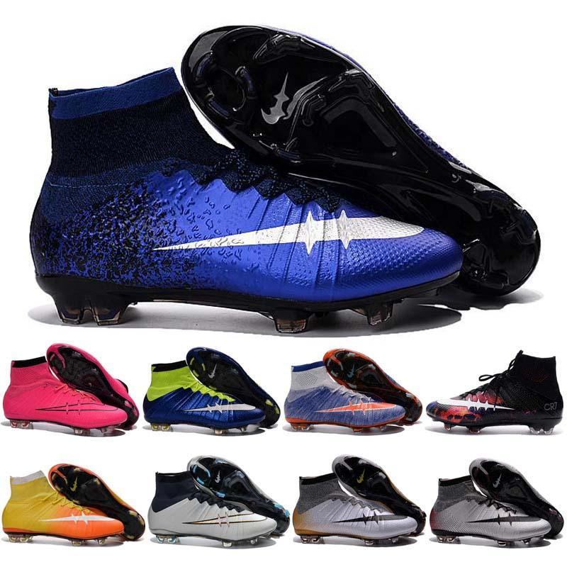 Cheap Kids Indoor Soccer Shoes For Boys Superfly Fg Football Boots ...
