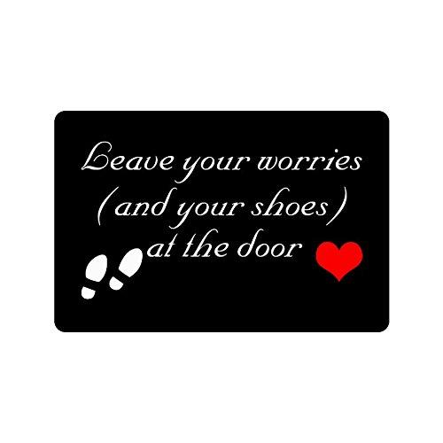 Humorous Funny Saying Quotes Leave Your Worries and Your Shoes at Indoor  Outdoor Home Office Bathroom. Bathroom Saying