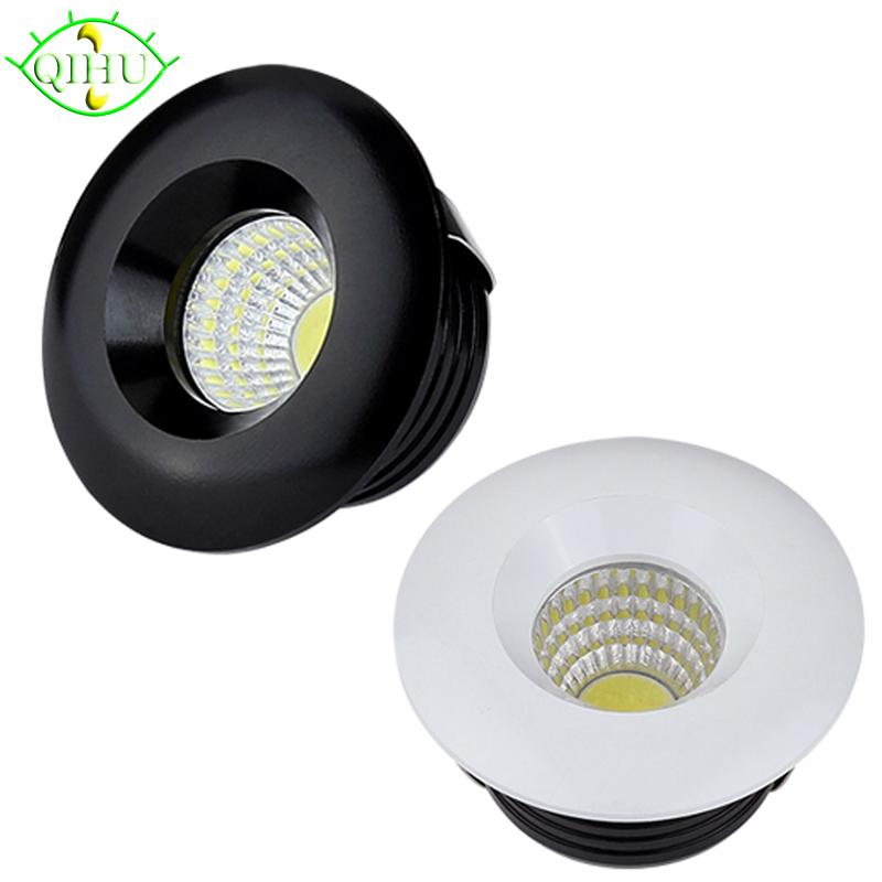 wholesale led spot lamps mini downlights 3w dimmable recessed down lights 110v 220v cabinet. Black Bedroom Furniture Sets. Home Design Ideas