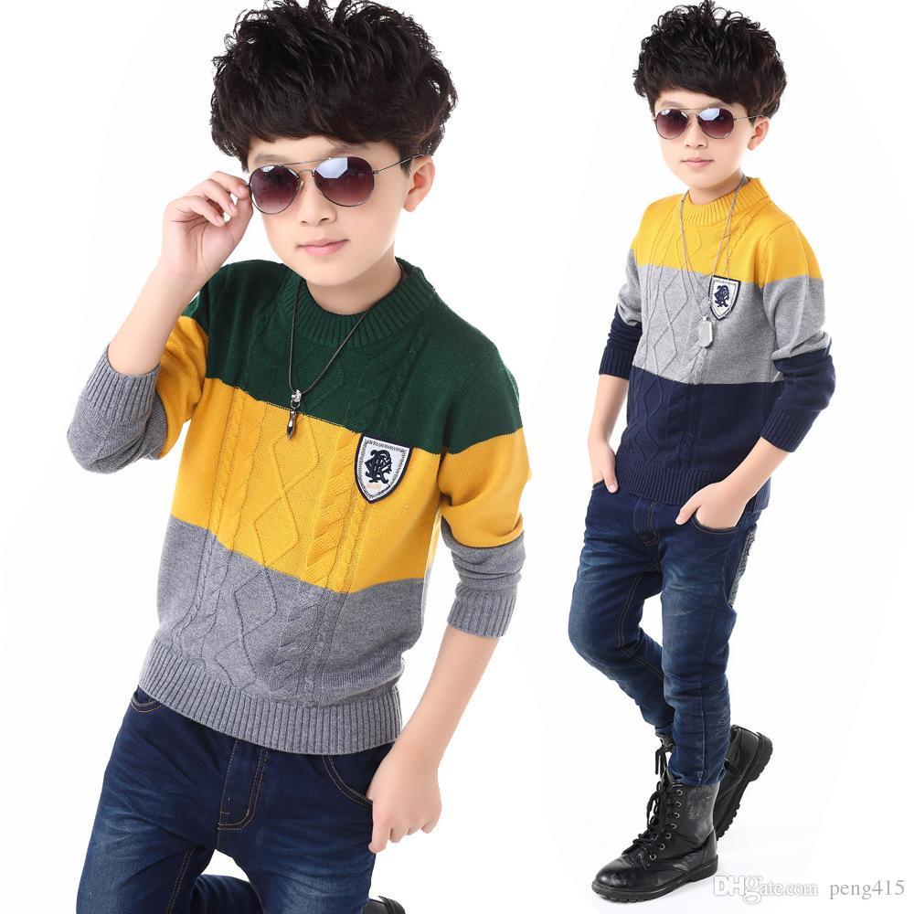 2017 New Winter Boy Sweaters Kids Knitted Sweater Boys
