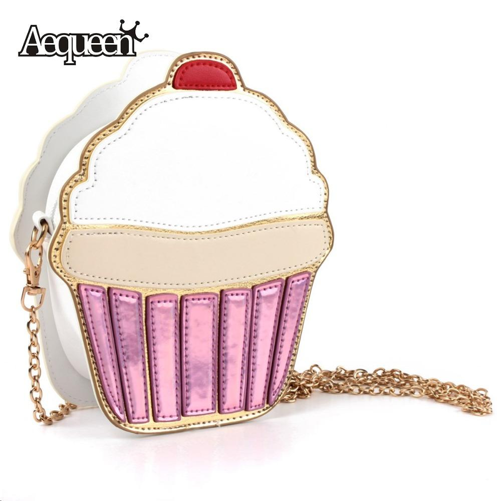 Wholesale 2015 Women Shoulder Bag Girl Cupcake Chain Clutch ...