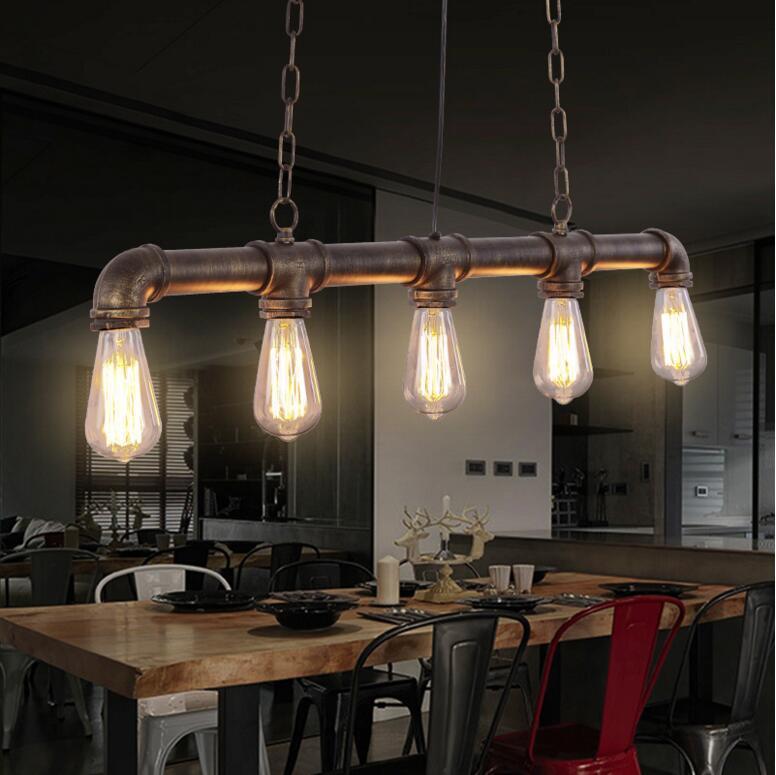 Discount retro pendant lamp nordic industrial loft iron for Barra bar vintage