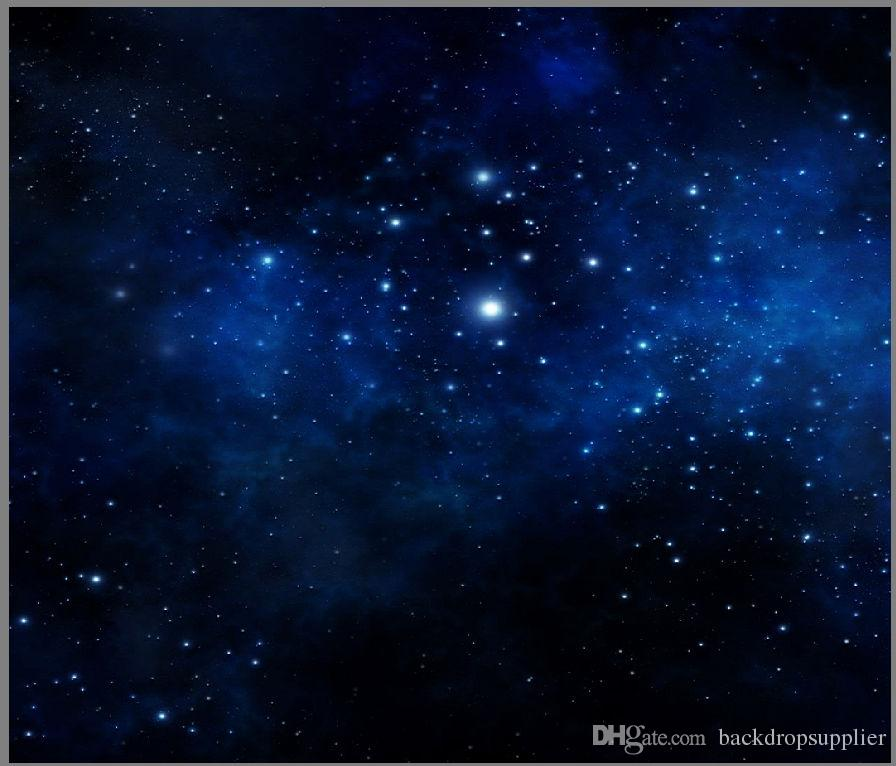 2018 7x5ft Dark Blue Starry Sky Clouds Stars Custom Photo
