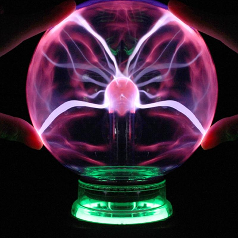wholesale plasma ball magic sphere light 3 4 5 6 inch holiday lights table night lamp kids room decor gift box novelty crystal lightning magic sphere - Sphere Christmas Lights
