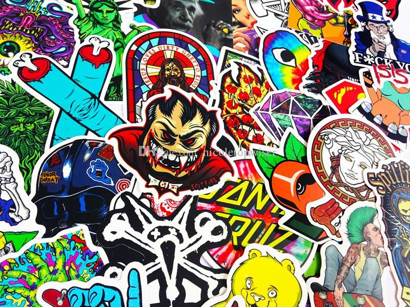 Mega Cool Graffiti Autocollants Autocollants Vinyls | Pack de 100 Qualité optima