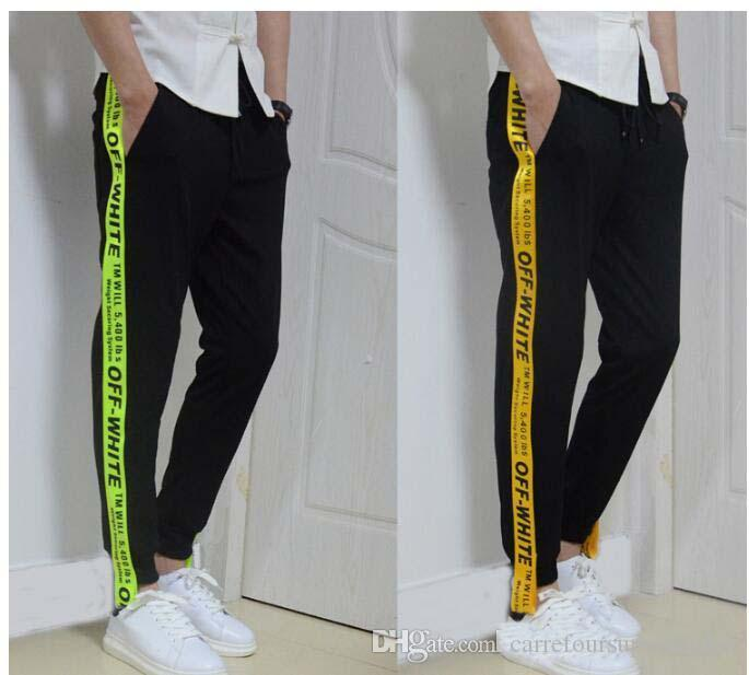 2017 Off White Sweatpants Men Women Casual Pants Hip Hop ...