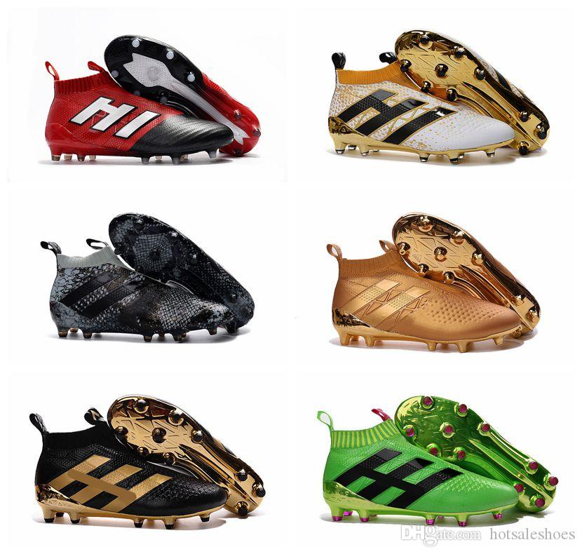 ACE 17+ 16+ Purecontrol FG Mens soccer Shoes ACE 17.1 Football Shoes High Tops Soccer Boots Laceless Soccer Cleats Football Boots
