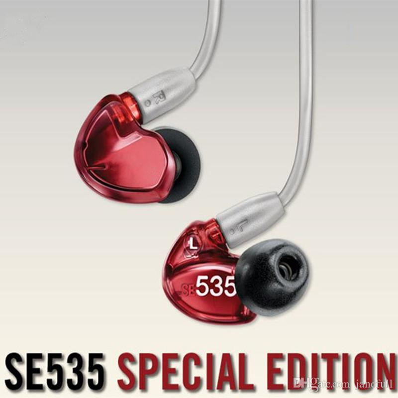 Red Special Wired se 535 In Ear Earphone Dynamic HIFI Bass Stereo Casque anti-br