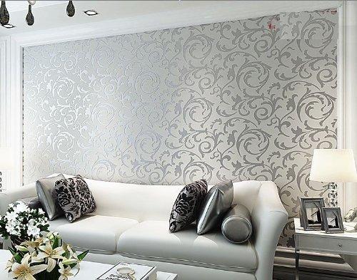 Wallpaper Print Embossed Non Woven 3d Home Decor Wallpaper For Livingroom Bedroom