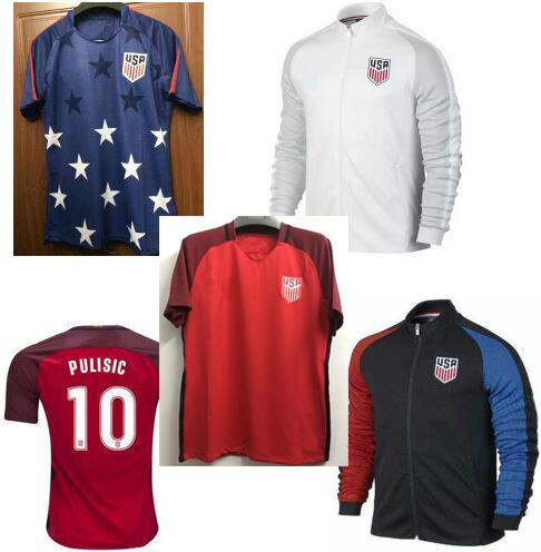 Best Thai Quality Survetement football New America jerseys USA PULISIC Vestes de