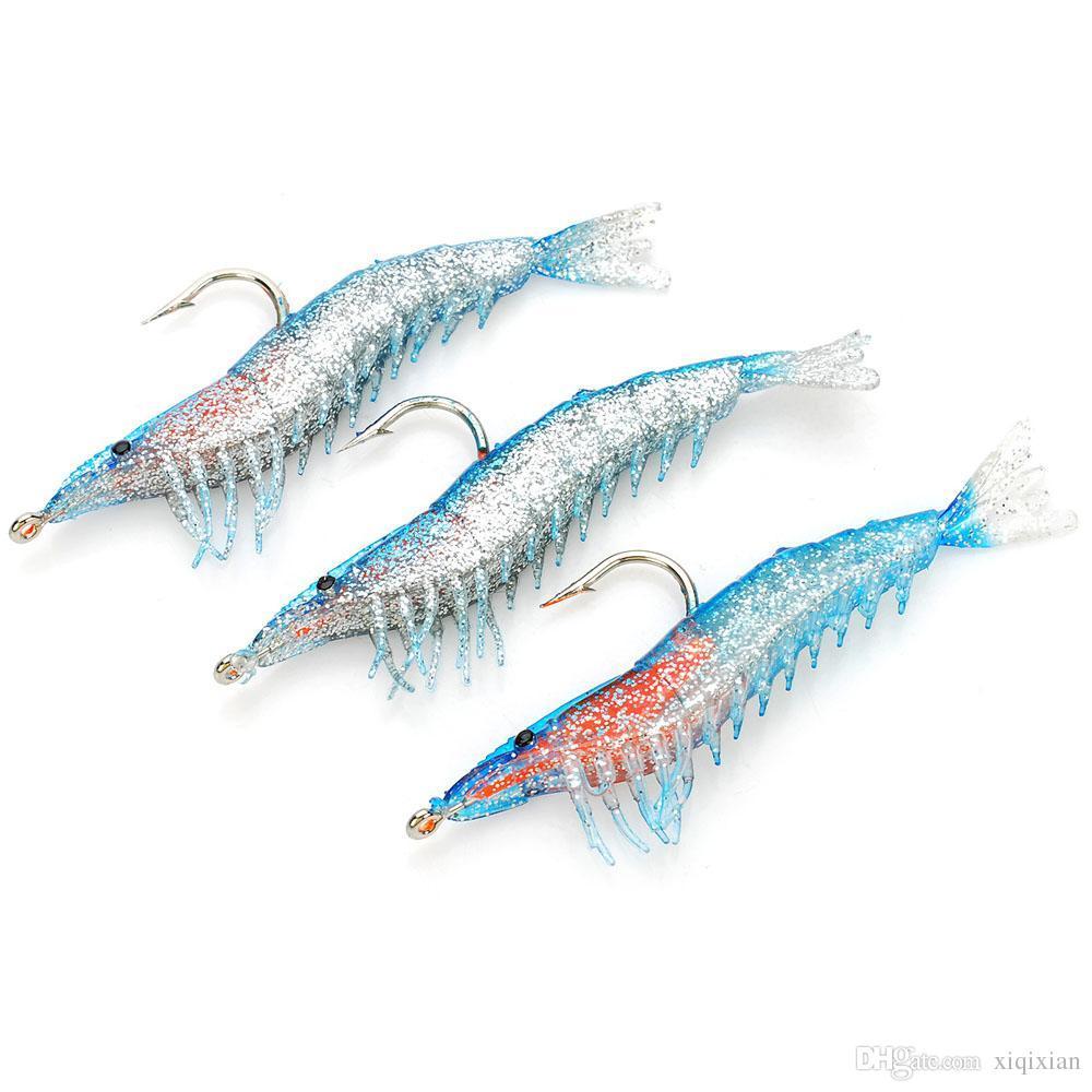 2016 new soft lifelike pvc rubber shrimp style fishing bait lures, Soft Baits