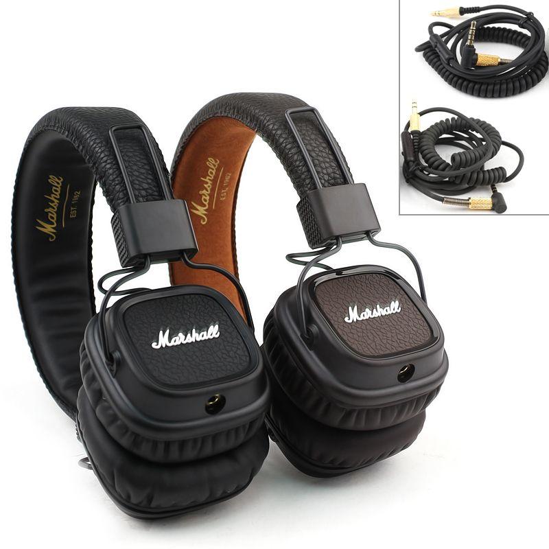marshall major mk ii 2 black brown headphones new generation major2 hifi headset remote mic 2nd. Black Bedroom Furniture Sets. Home Design Ideas