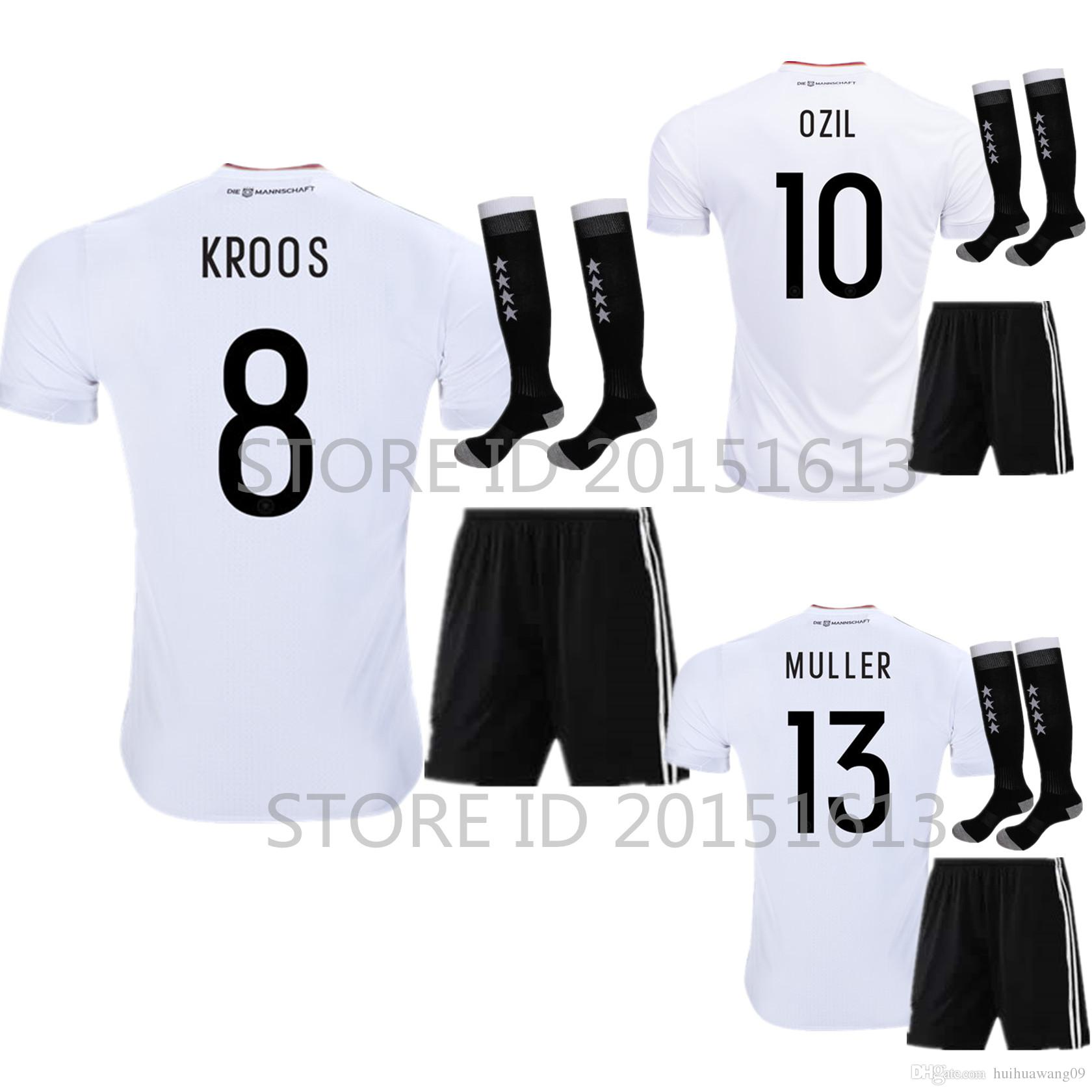 2015 2016 germany soccer jersey uniform short sleeves home for Germany mercedes benz soccer jersey