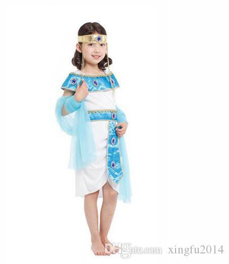 halloween costumes boy girl ancient egypt egyptian pharaoh cleopatra prince princess costume for children kids cosplay clothing cosplay clothing halloween - Egyptian Halloween Costumes For Kids