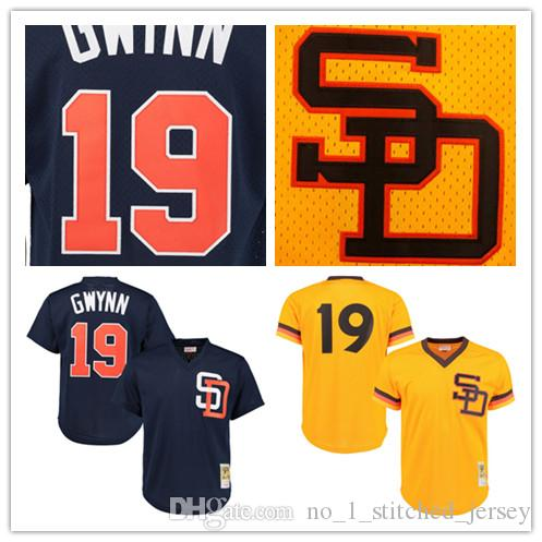 Hommes San Diego Padres Tony Gwynn Mitchell Ness Or 1982 Authentique Cooperstown
