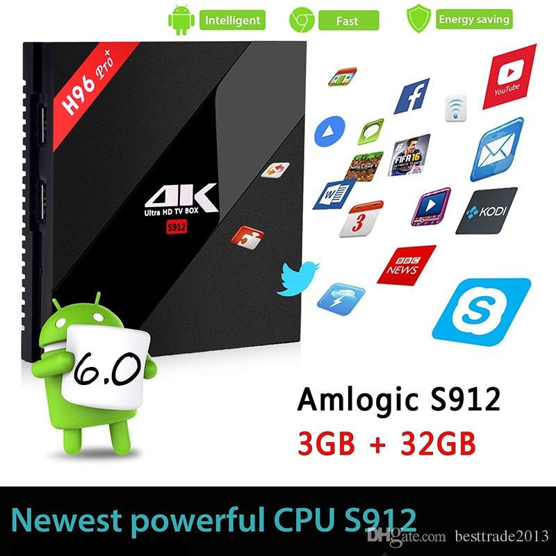 3GB / 32GB H96 PRO + Smart Tv Box Amlogic S912 3 Go / 16 Go 2 Go / 16 Go Android