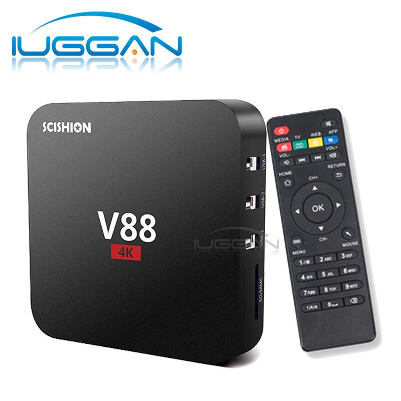 V88 Android 5.1 TV BOX Rockchip RK3229 kd 16 1G + 8G H.265 Lecteur multimédia kd