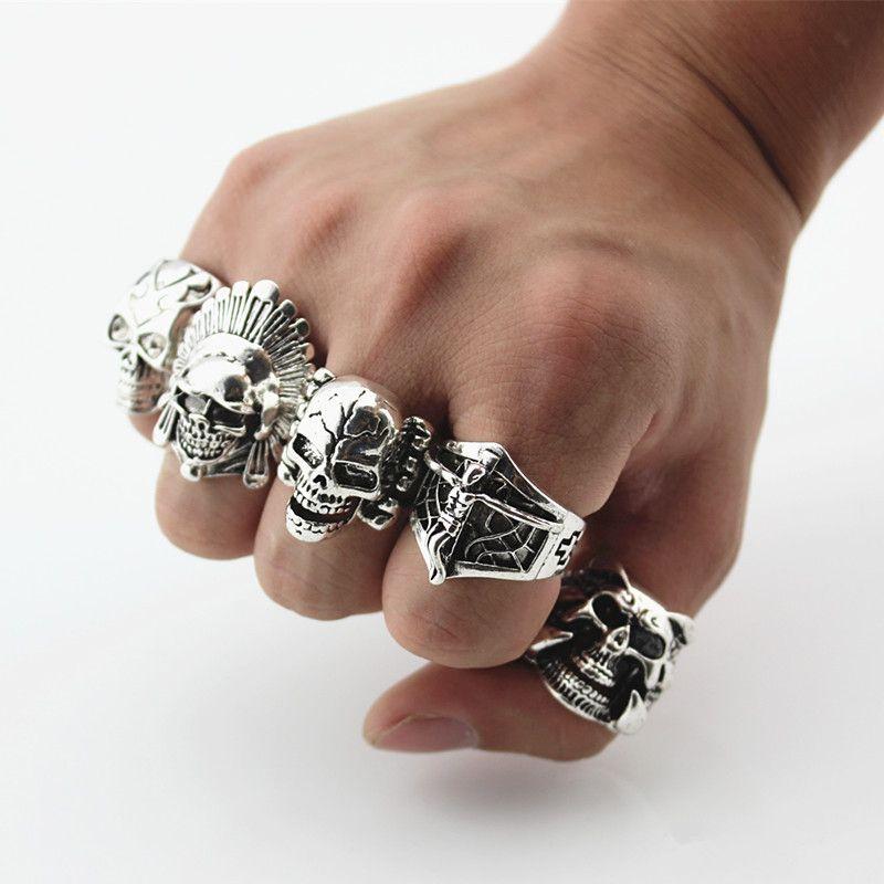 Mens Titanium Biker Rings