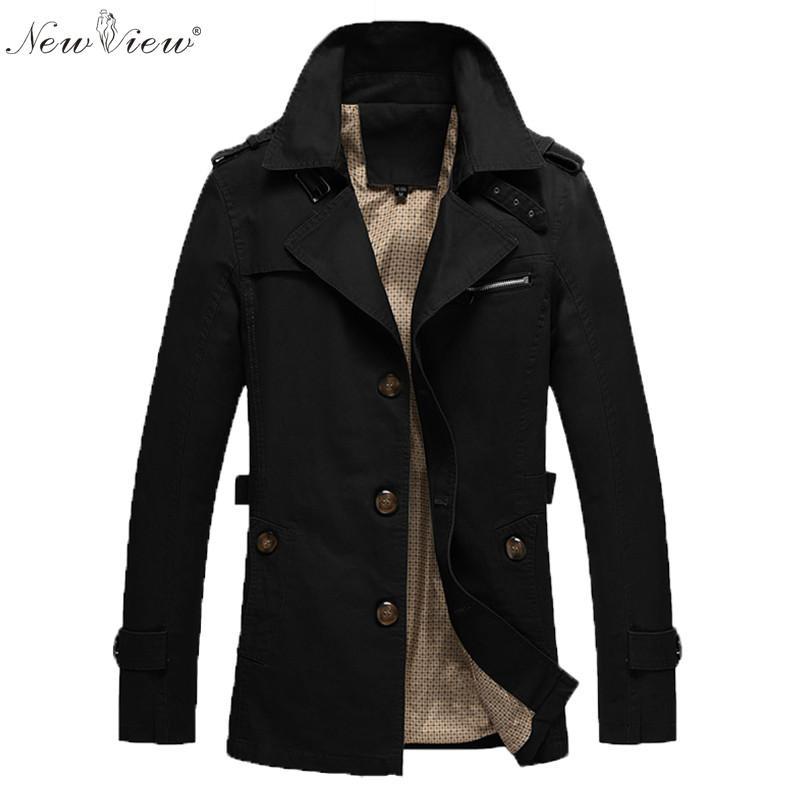 Mens Short Trench Coat Black Online | Mens Short Trench Coat Black