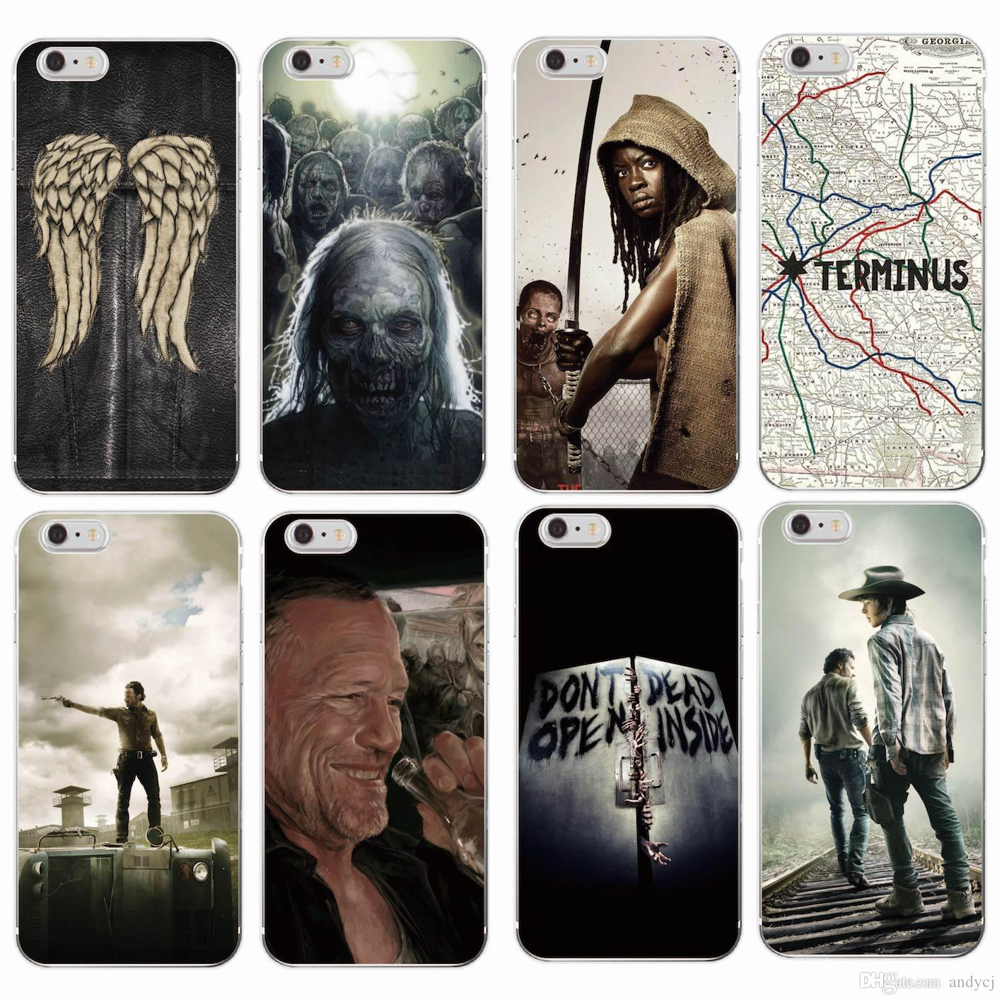 ... Dead Zombie Rick Daryl Dixon Wings Soft Phone Case - 1417x1417 - jpeg