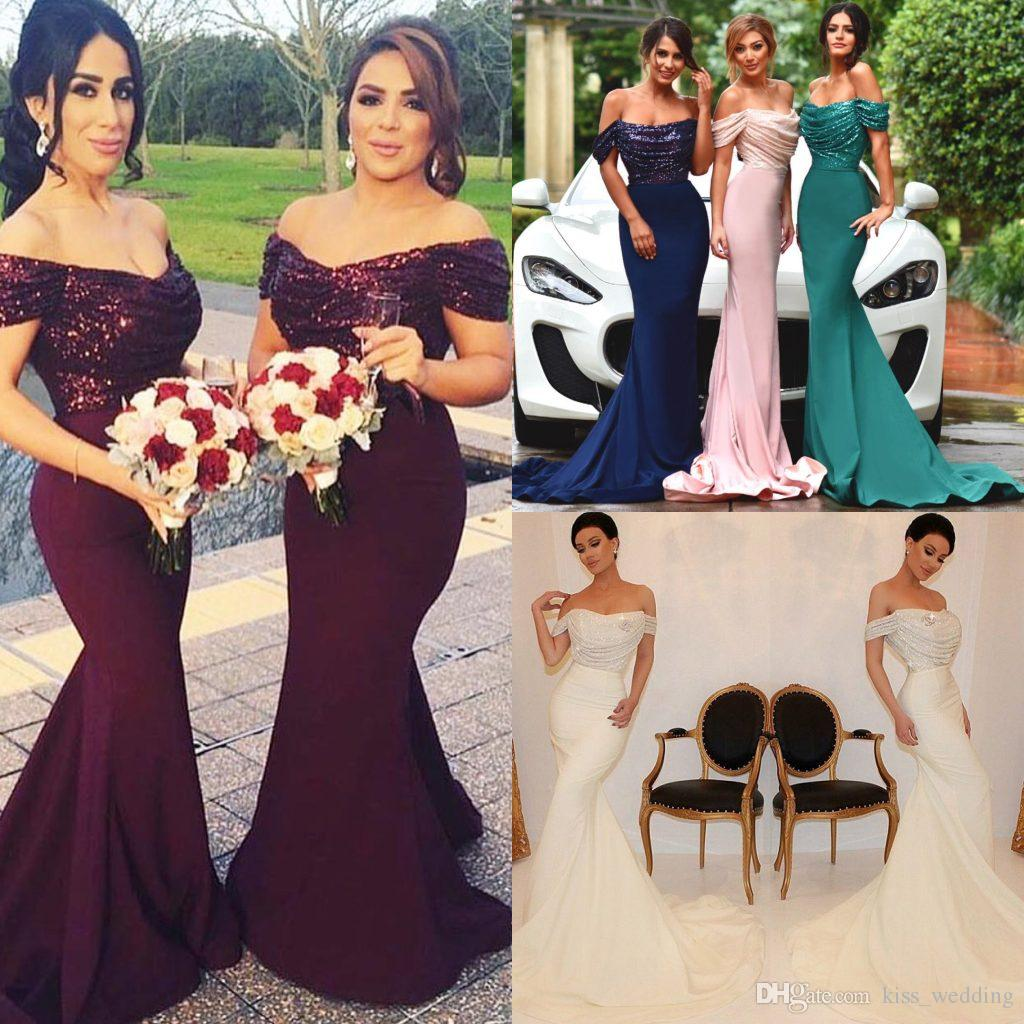 Elegant sequined mermaid bridesmaid dresses off shoulder sheath elegant sequined mermaid bridesmaid dresses off shoulder sheath womens gown of the bride custom made wedding guest dress party gowns wedding party gown ombrellifo Choice Image