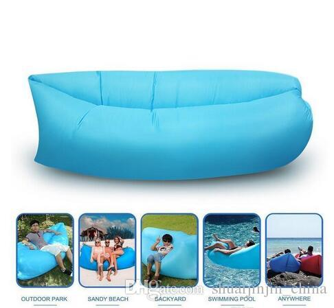 Sac de couchage gonflable rapide Air Hangout Lounger Air Camping Sofa Portable B