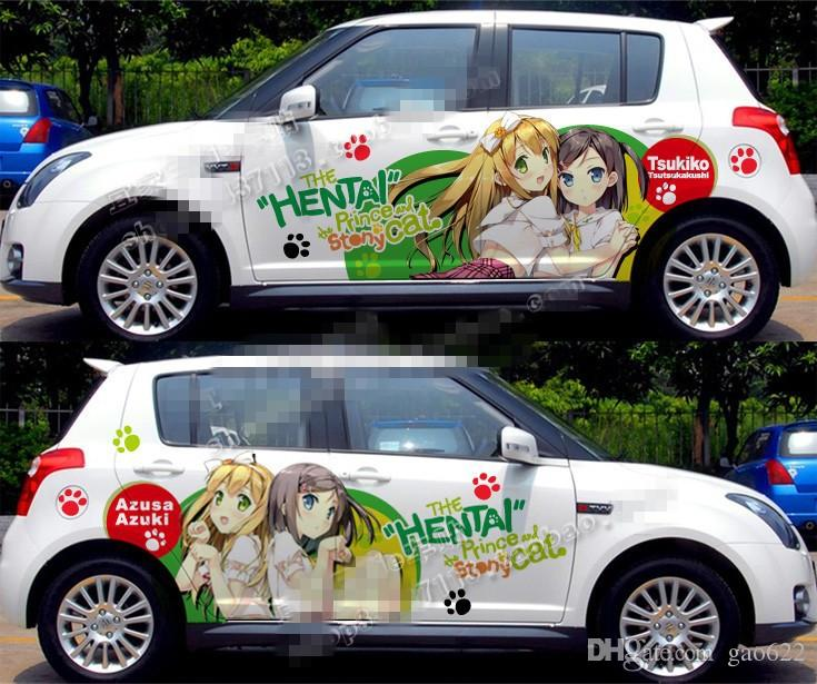 New Hot Anime Car Stickers Custom The HENTAI Only For White Car - Custom car stickers