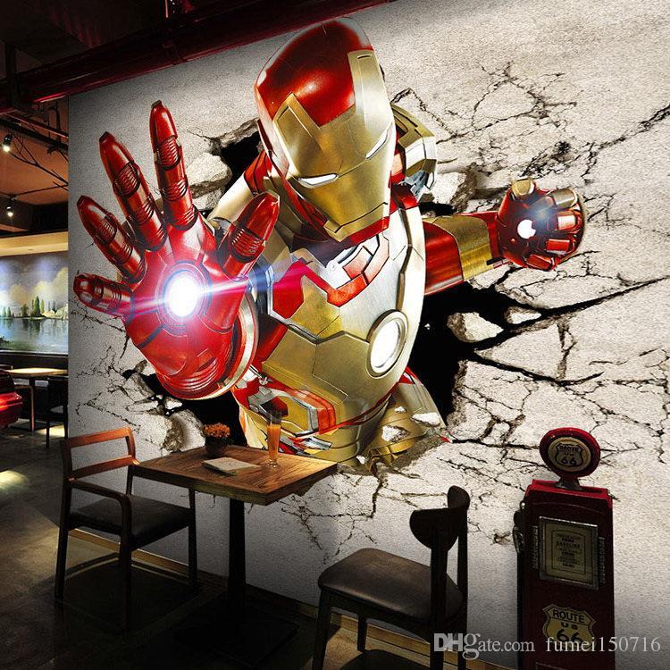 3D View Iron Man Wallpaper Giant Wall Murals Cool Photo Wallpaper