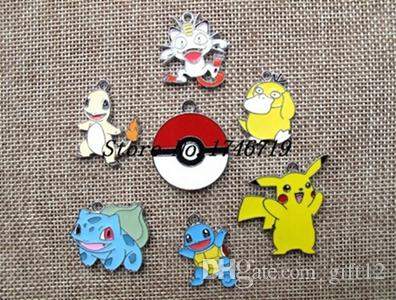 Nouveaux 50 pcs Poke Go Pocket Monster Enamel Metal Charms Bijoux Fabrication Pe