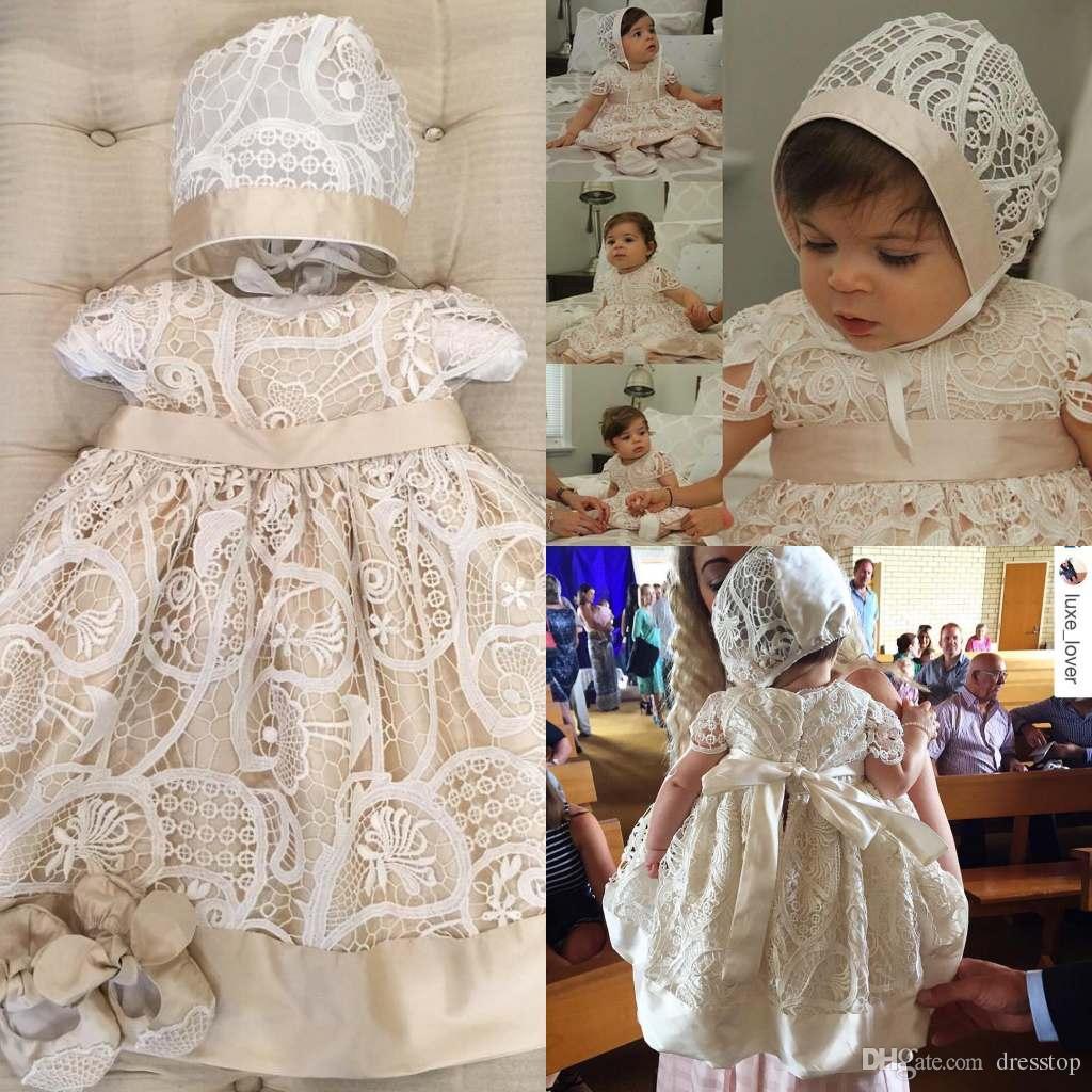 Нарядное крестильное платье для девочки своими руками 21
