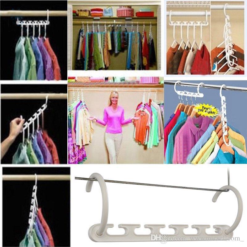 /Space Saver Wonder Hanger Clothes Closet Organizer Hook Drying Rack  Multi Function Clothing Storage Racks Hanger Clothes Closet Organizer  Hangers Online ...