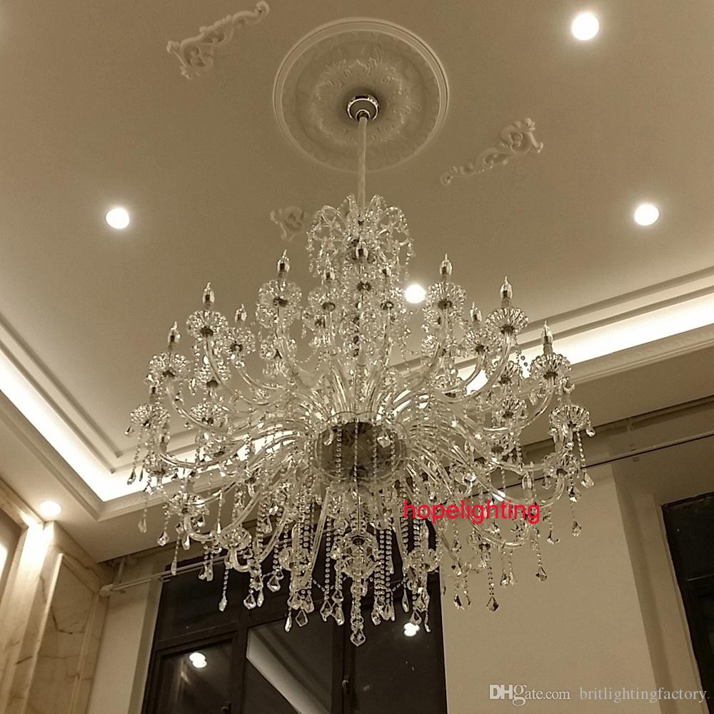 Modern Large Crystal Chandelier For Foyer Big Crystal