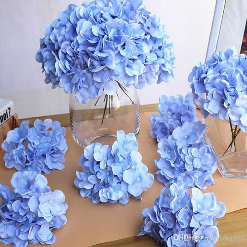 Online cheap diy artificial hydrangea flower head fake