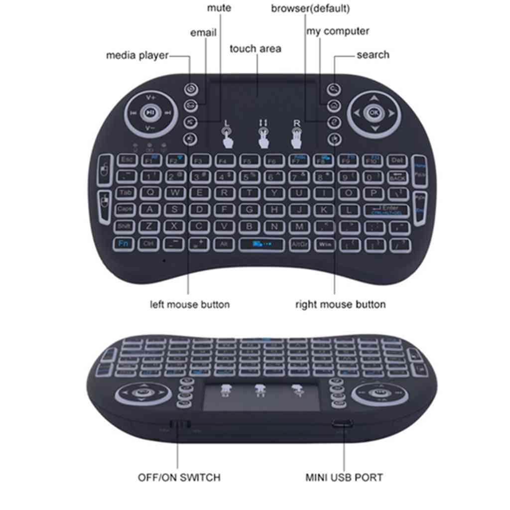 Rii Bluetooth Keyboard Android: 2017portable Mini Keyboard Rii Mini I8 Wireless Bluetooth