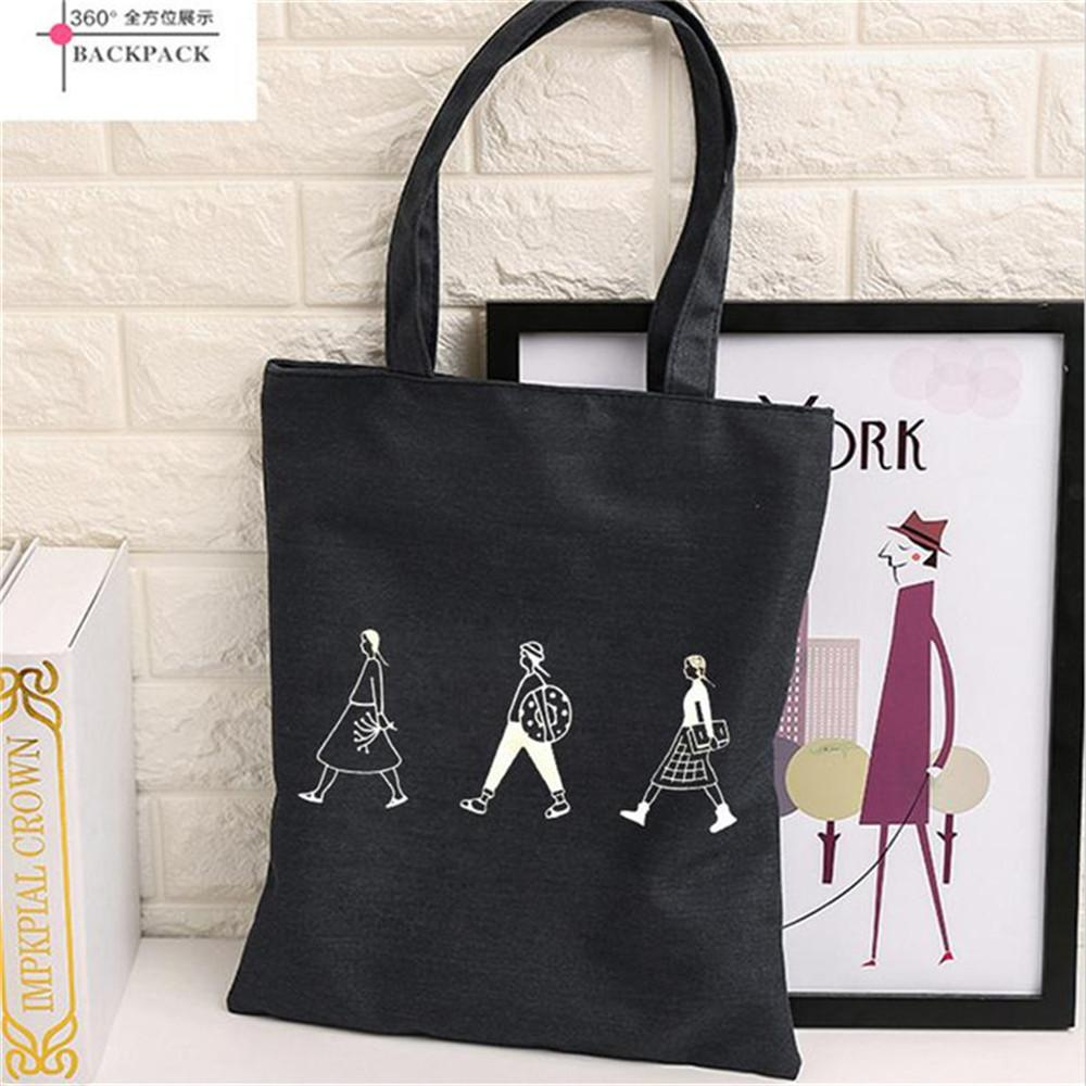 Wholesale Large Shopping Bag Fashionable And Simple Canvas ...