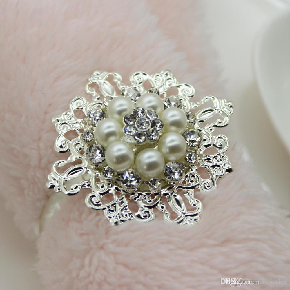 wholesale free shipping diamond napkin ring wedding party banquet